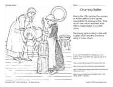 Churning Butter Worksheet