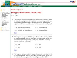 Circle Graphs Worksheet