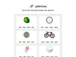 Circle the Word That Names the Picture Worksheet