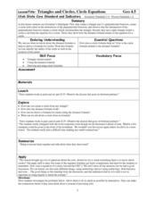 Circles and Triangles Worksheet