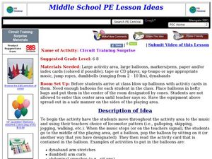 Circuit Training Surprise Lesson Plan