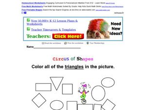 Circus of Shapes: Triangles Worksheet
