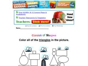 Circus of Shapes Worksheet