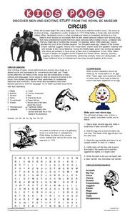 Circus Worksheet