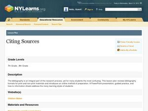 Citing Sources Lesson Plan