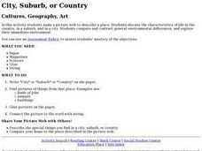 City, Suburb, or Country Lesson Plan