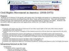 Civil Rights Movement in America Lesson Plan