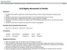 Civil Rights Movement in Florida Lesson Plan