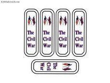Civil War Bookmarks Worksheet