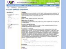 Civil War Weapons and Changes Lesson Plan