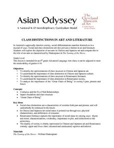 Class Distinctions in Art And Literature Lesson Plan