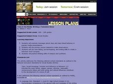 Class in the Media: Writing a Television Show Lesson Plan