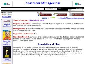 Class of the Week Lesson Plan