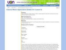 Classical Music Appreciation (Grades 5-6 / Lesson 3) Lesson Plan