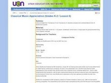 Classical Music Appreciation (Grades K-2 / Lesson 6) Lesson Plan