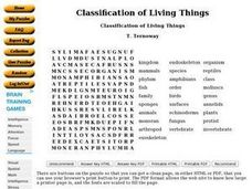 ... of Living Things 9th - 10th Grade Worksheet | Lesson Planet