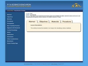 Classification of Matter Lesson Plan