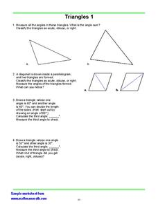 Classify The Triangles Worksheet