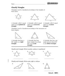 Worksheets Classifying Triangles Worksheet classify triangles 4th 7th grade worksheet lesson planet worksheet