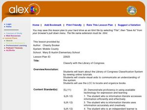 Classify with the Library of Congress Lesson Plan