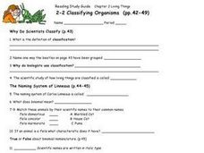 Printables Classifying Organisms Worksheet classifying organisms 9th higher ed worksheet lesson planet worksheet