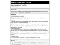Classroom Behavior Role Play Lesson Plan