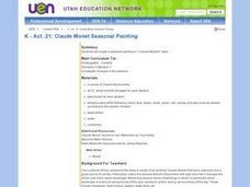 Claude Monet Seasonal Painting Lesson Plan