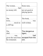 Clauses and Sentences Worksheet