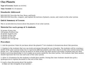 Clay Planets Lesson Plan