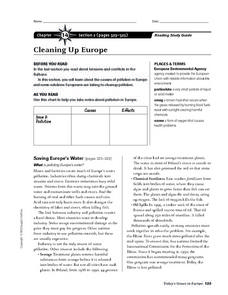 Cleaning Up Europe Worksheet