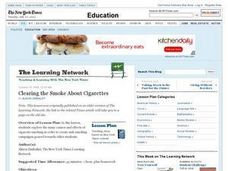 Clearing the Smoke About Cigarettes Lesson Plan
