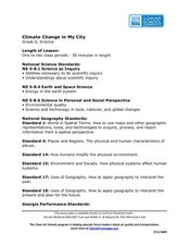 Climate Change in My City Lesson Plan