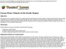 Climate in the Pacific Region Lesson Plan