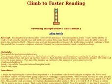 Climb to Faster Reading Lesson Plan