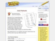 Clock Flashcards Worksheet