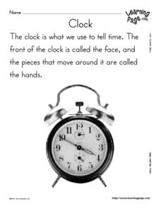Clock Lesson Plan