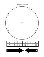 Clock (Not Numbered) Worksheet