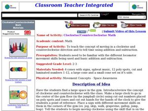 Clockwise/Counterclockwise Math Lesson Plan