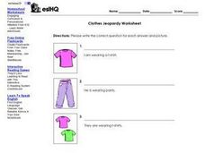 Clothes Jeopardy Worksheet Worksheet