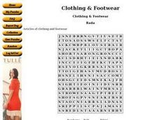 Clothing and Footwear Worksheet