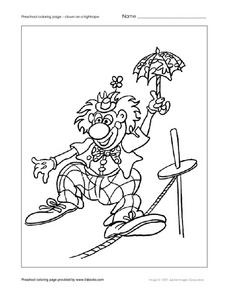 Clown on a Tight Rope Worksheet