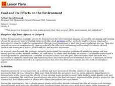 Coal and Its Effects on the Environment Lesson Plan