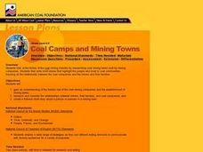 Coal Camps and Mining Towns Lesson Plan