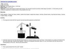 Coal Gas Lesson Plan
