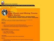 Coal Miners and Mining Towns: Their Stories Lesson Plan