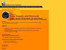Coal Supply and Demand Lesson Plan