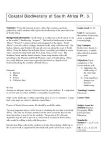 Coastal Biodiversity of South Africa Lesson Plan