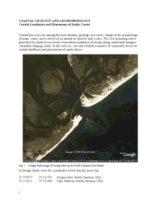 Coastal Geology and Geomorphology Worksheet
