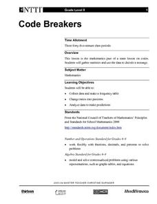 Code Breakers Lesson Plan