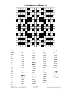 Coded Crossword Puzzle #6 Worksheet
